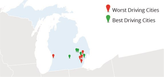Michigan's Best and Worst Driving Cities