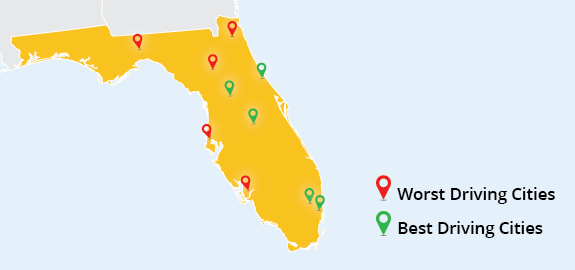 Florida Best and Worst Driving Cities