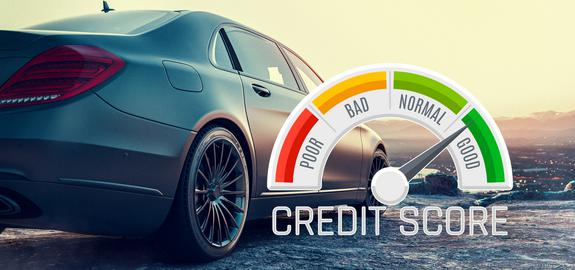 credit score image showing good credit