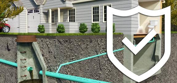 septic tank under home